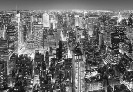 Vlies Fototapete New York, Manhattan Luftaufnahme Schwarz-weiß