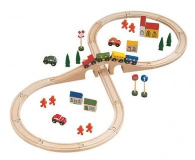 Holzeisenbahn Loko Lolly, 46 Teile