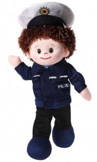 Stoffpuppe Poupetta Polizist, Grösse 30 cm