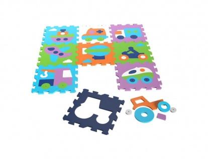 Puzzlematte - Fahrzeuge, 9 teilig