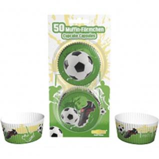Muffinförmchen Fußball, 50 Stück