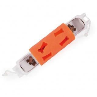 Intelligenzspielzeug für Hunde - Dog Toy Roller, Länge 17, 5 cm orange