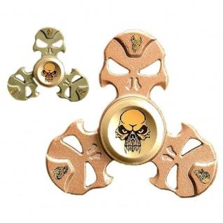 Fidget Spinner aus Metall, mit Totenkopf, sortierte Ware, 1 Stück - Vorschau