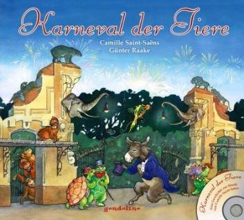 Kinderbuch, Bilderbuch mit CD - Karneval der Tiere - Vorschau