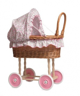 Stubenwagen für Puppen, Design Blümchen