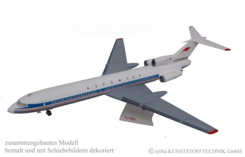 Flugzeugmodell TU 154 - Bausatz