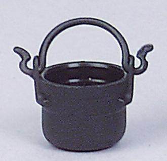 Kunststoffkessel schwarz, für Krippen, Hobby- und Modellbau