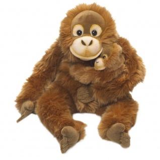 Plüschtier WWF Orang Utan Mutter mit Baby, 25cm