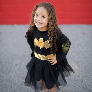 Bat Girl Kleid mit Cape, M - Faschingskostüm für Kinder