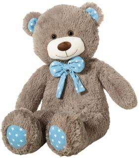 Heunec Kuscheltier Bär kitt mit Schleife, Plüschtier, 80 cm Teddybär