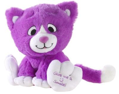 Plüschtier Katze Kitty Smile Farbe lila