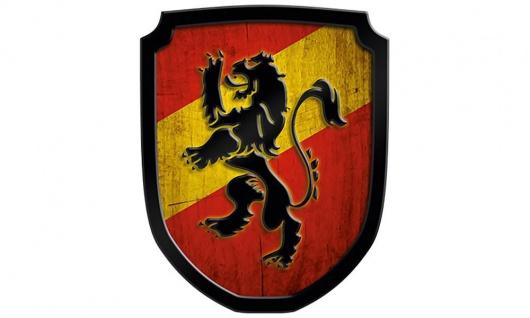 Wappenschild Löwe, rot