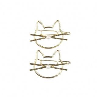 Haarspange Katze - 2teiliges Haarspangenset - Kinderschmuck