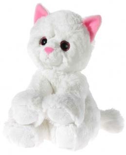 GLITTER-KITTY Katzen-Baby, weiß Grösse 24 cm