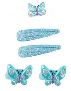 Kinderschmuck Schmetterling, 5er Set - Vorschau