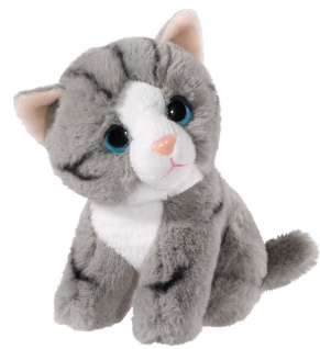 Plüschtier Mini-Mi Katze, 14 cm Farbe grau