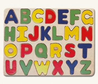 Buchstaben Holzpuzzle ABC