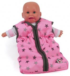 Puppen-Schlafsack, Sternchen grau