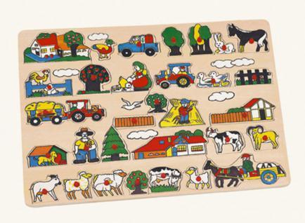 Steckpuzzle Bauernhof Maxi