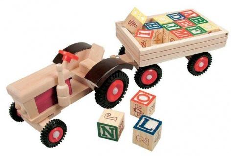 Traktor mit ABC-Anhänger, Tracki Bobo