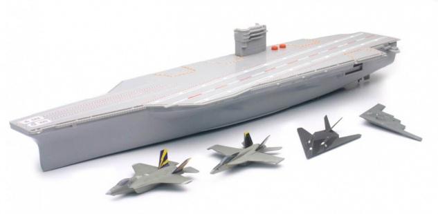 B/O Flugzeugträger mit 4 Jets, mit Sound- und Lichteffekten