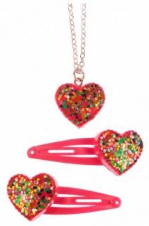 Sparkle My Heart Kette - Kinderkette und Haarspange