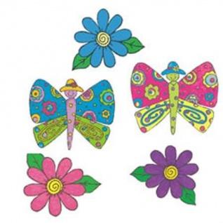Wandaufkleber Wallies Motiv-Sticker (Cutotus) Butterfly Garden