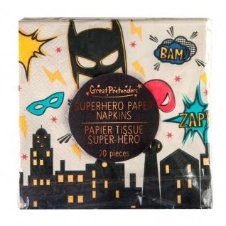 Superhelden Servietten - Partyzubehör, Tischdeko, Kindergeburtstag