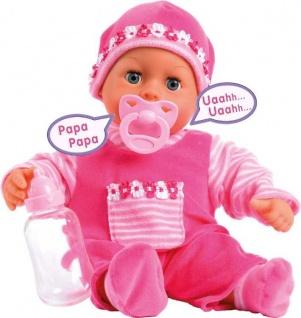 Funktionspuppe First words Baby, Grösse ca. 38cm pink