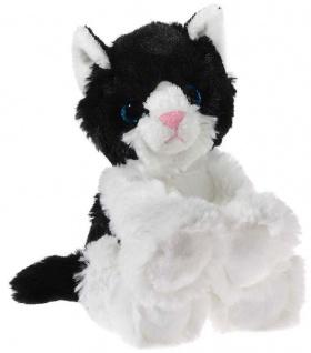 GLITTER-KITTY Katzen-Baby, schwarz/weiß Grösse 20 cm