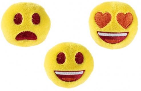 Emoji Quietsche-Bällchen Dreierset, Heunec Hundespielzeug