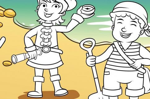 XXL Poster Kinder, Piraten zum Ausmalen - Vorschau 3