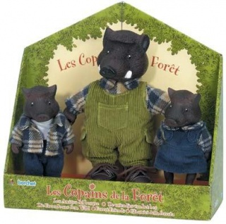 Die Wildschweinfamilie aus der Serie Die kleinen Freunde aus dem Wald
