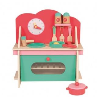 Mini-Küchenset aus Holz mit Zubehör, Spielküche, Holzkocher