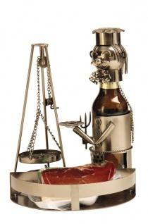 Bier-Flaschenhalter Schwenker mit Tablett - Vorschau