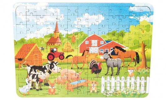 Holz-Puzzle Bauernhof, 130 Teile