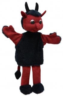 Handpuppe Teufel Hubert, 33cm, Handpuppe mit Beinen