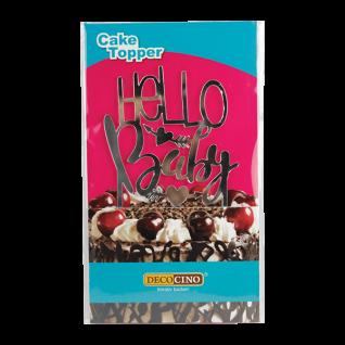 Cake Topper Hello Baby - Tortendeko