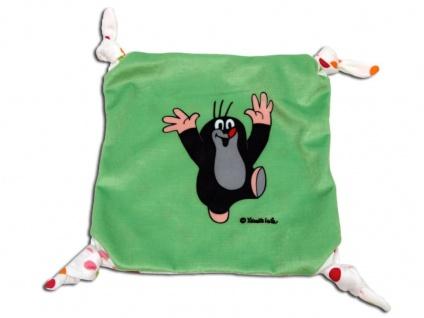 Der kleine Maulwurf - Schmusetuch, grün - Schnuffeltuch