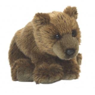 Plüschtier WWF Grizzlyjunges, braun, weich