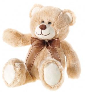 Plüschtier Bär aus zweifarbigem Material beige, Grösse 30 cm