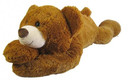 Plüschtier Bär XL, liegend, 120cm Farbe hellbraun