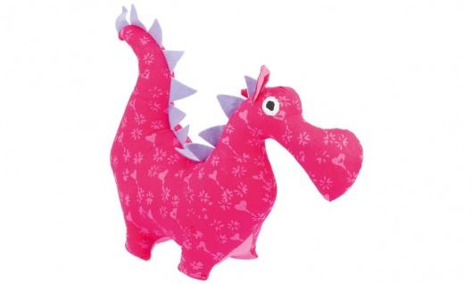 Stofftier Kuschelfreund Drache, groß, pink