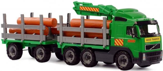 Volvo Truck - Holzfrachter mit Anhänger