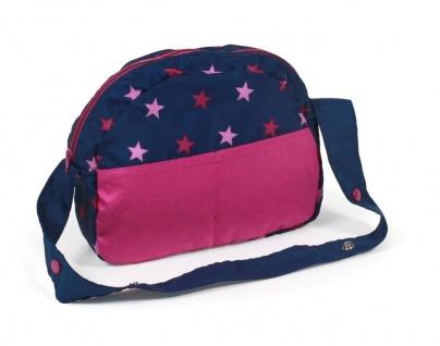 Puppen-Wickeltasche für Puppenwagen Stars marine