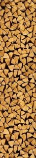 Wandtattoo Holz als Holzscheit, selbstklebend