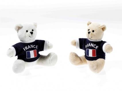 EM-Bärchen mit Shirt Frankreich, 1 Stück, sortierte Ware
