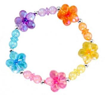 Armband Regenbogen-Blumen