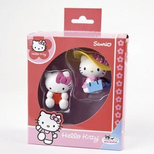 2 Spielfiguren Hello kitty Shopping Girl und Hello Kitty Valentine - Vorschau