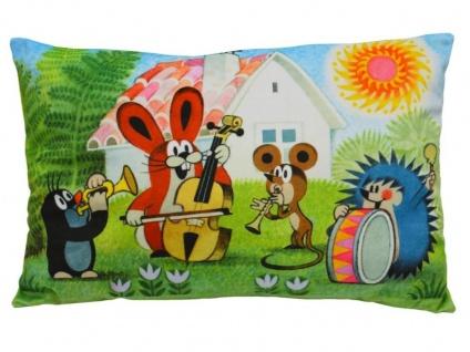 Kissen der kleine Maulwurf, Motiv Band, 45x30cm - Kinderkissen